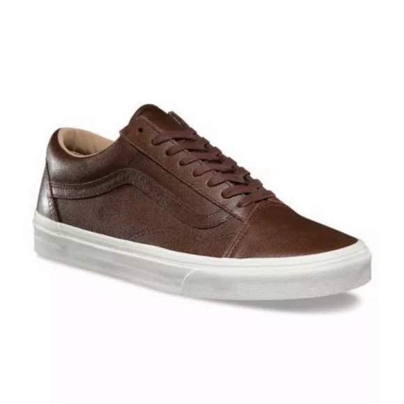 Vans Other - Vans Old Skool lux leather brown sneaker shoes 7